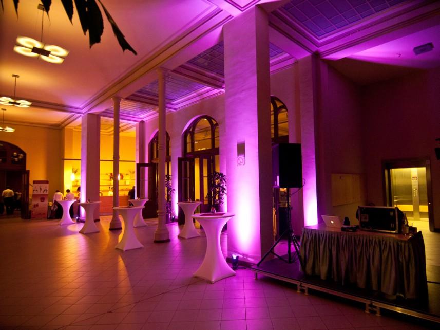 LED Ambiente Licht Stefan Bernschein Foyer DJ