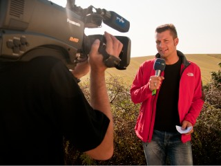 MDR-Meckermobil-Reporter Stefan Bernschein in Lindau (Zerbst)