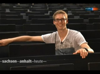 Jungwähler Paul in der Hallenser Uni - Beitrag: Stefan Bernschein
