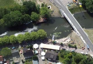 Luftbild Rossdorf Brühtrogpaddeln 2012