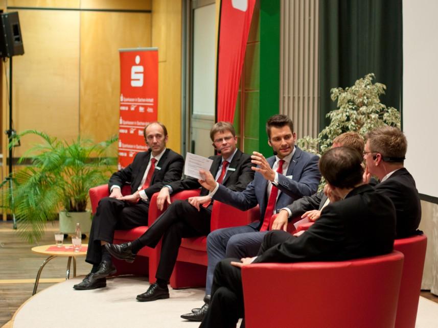 Talkrunde mit Moderator Stefan Bernschein