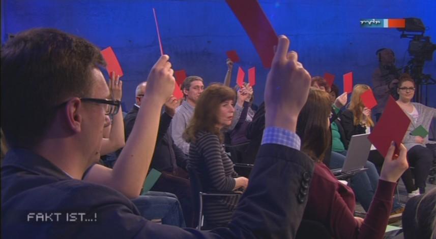 a Abstimmung über ein Verbot im Publikum - Fakt ist aus Magdeburg