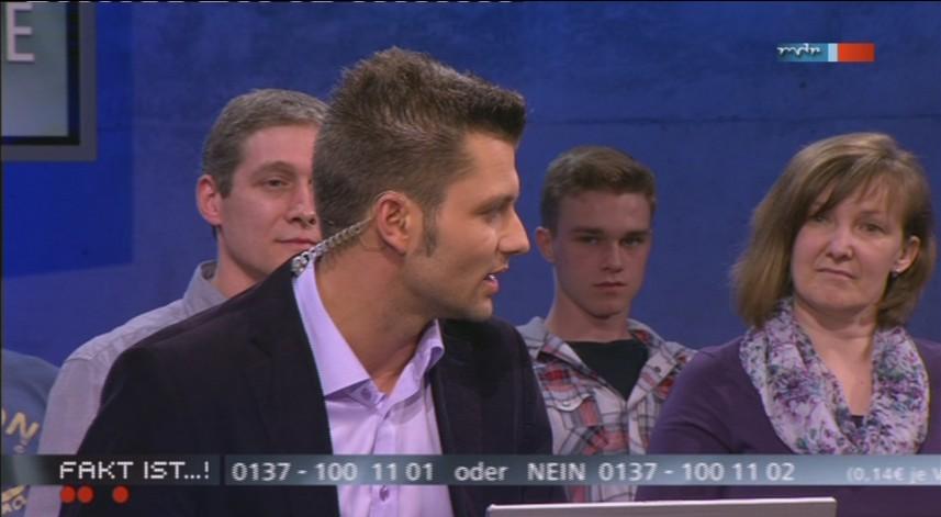 a Bürgerreporter Stefan Bernschein im Publikum - Fakt ist aus Magdeburg