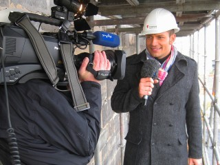 MDR-Kameramann Rüdiger Pelikan mit Stefan Bernschein