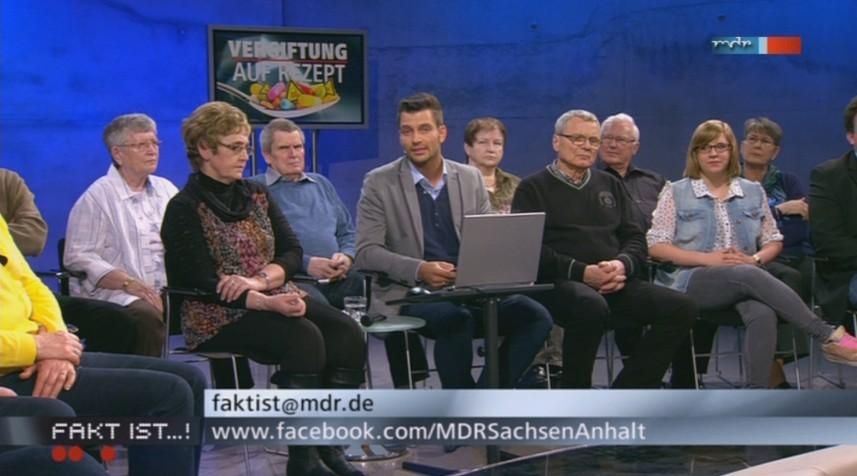 mdr fakt ist -- Publikum mit Bürgerreporter Stefan Bernschein