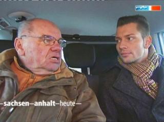 Stefan Bernschein mit Meckermobil in Osternienburg