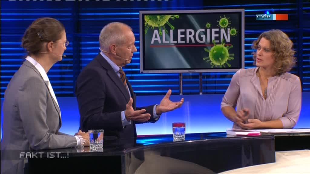Fakt ist...! aus Magdeburg: Dr. Kirsten Jung, Prof. Harald Gollnick und Moderatorin Anja Heyde