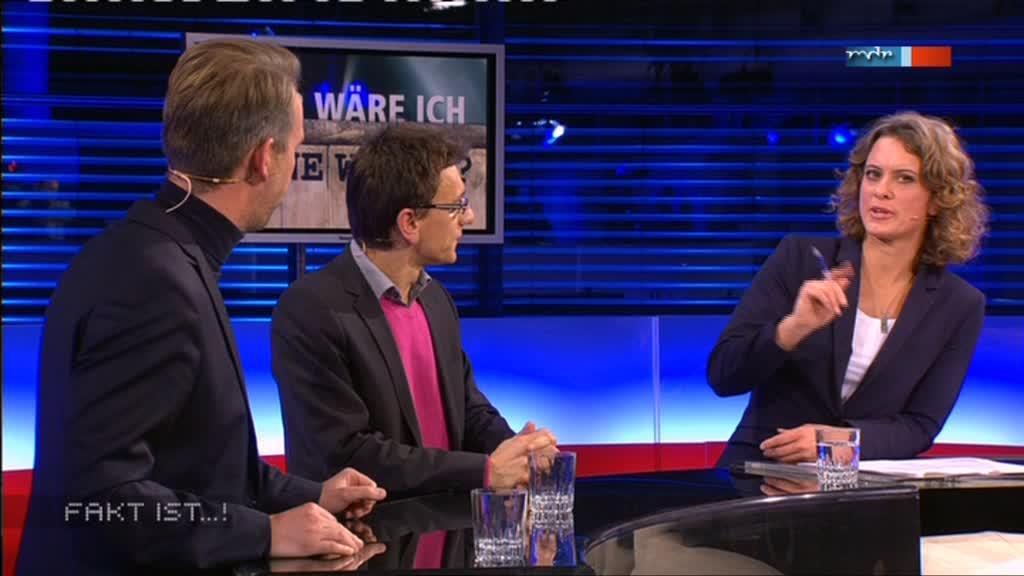 MDR Fakt ist...! aus Magdeburg: Moderatorin Anja Heyde im Gespräch mit Gästen